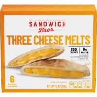Sandwich Bros. Three Cheese Melt Pita Snack Sandwiches - 6 ct / 2 oz
