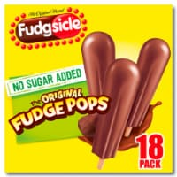 Fudgsicle No Sugar Added Original Fudge Pops