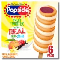 Popsicle® Fruit Twister Peach Raspberry & Vanilla Swirl Frozen Dairy Dessert - 6 ct / 2.7 fl oz