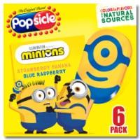 Popsicle® Minions Frozen Confections - 6 ct / 20.28 fl oz