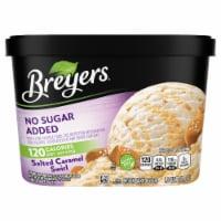 Breyers No Sugar Added Salted Caramel Swirl Frozen Dairy Dessert