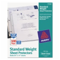 Avery Top-Load Sheet Protector, Standard, Letter, Semi-Clear, 100/Box 75536 - 1