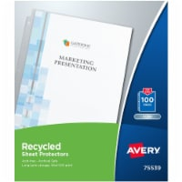 Avery Top-Load Recycled Polypropylene Sheet Protector, Clear, 100/Box 75539 - 1