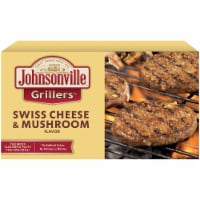 Johnsonville Grillers Swiss Cheese & Mushroom Flavored Patties