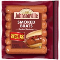 Johnsonville Smoked Bratwurst Pork Sausage Links - 12 ct / 28 oz