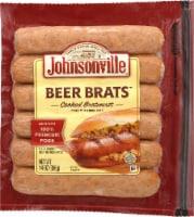 Johnsonville Beer Brats Cooked Bratwurst