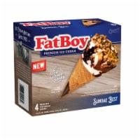 FatBoy Sundae Best Premium Ice Cream Cones 4 Count