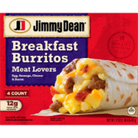 Jimmy Dean Meat Lovers Breakfast Burritos 4 Count