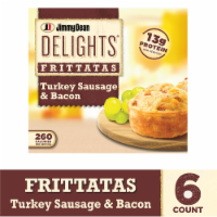 Jimmy Dean Delights Turkey Sausage and Bacon Frittatas 6 Count