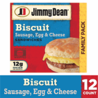 Jimmy Dean Sausage Egg & Cheese Biscuit Sandwiches Family Pack