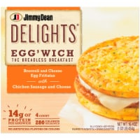 Jimmy Dean Delights Broccoli Cheese Egg'wich 4 Count
