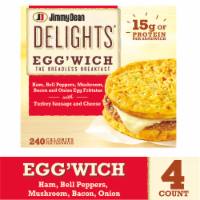 Jimmy Dean Delights Ham Peppers & Mushroom Egg'wich