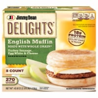 Jimmy Dean Delights Turkey Sausage Egg White & Cheese English Muffin Sandwiches 8/143 g