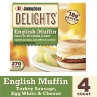 Jimmy Dean Delights Turkey Sausage Egg White & Cheese English Muffin Sandwiches
