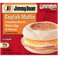 Jimmy Dean Canadian Bacon Whole Egg & Cheese English Muffin Sandwiches