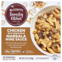 Blount's Family Kitchen Chicken with Noodles in Marsala Wine Sauce
