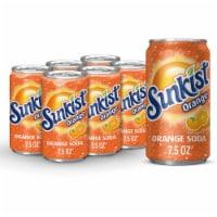 Sunkist Orange Soda - 6 cans / 7.5 fl oz
