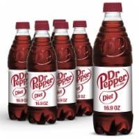 Diet Dr Pepper Soda - 6 bottles / 16.9 fl oz