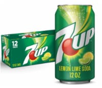7UP Lemon Lime Soda 12 Cans