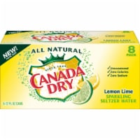 Canada Dry Lemon Lime Sparkling Seltzer Water 8 Cans