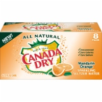 Canada Dry Mandarin Orange Sparkling Seltzer Water 8 Cans