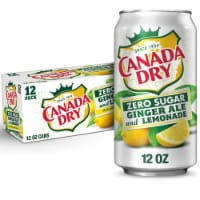 Canada Dry Zero Sugar Ginger Ale and Lemonade Soda