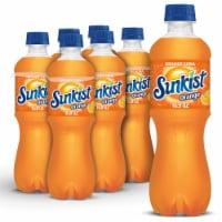 Sunkist Orange Soda - 6 bottles / 16.9 fl oz