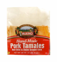 Bueno Hand-Made Red Chile & Stone Ground Corn Pork Tamales 12 Count - 36 oz