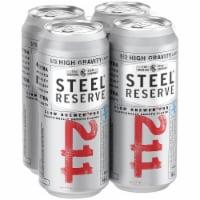 Steel Reserve High Gravity Malt Liquor Beer - 4 cans / 16 fl oz