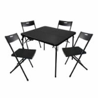Plastic Development 8119IM 5 Piece 34-Inch Card Table & 4 Chairs Furniture Set - 1 Unit
