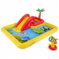 Intex Inflatable Ocean Play Center Kids Backyard Kiddie Pool & Games - 100 x 77 in