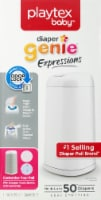 Playtex Diaper Genie Expressions Diaper Pail - White