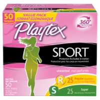 Playtex Sport Unscented Multi-Pack Tampons