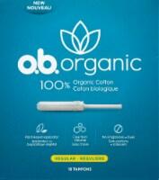 o.b. Organic Cotton Regular Tampons 18 Count