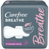 Carefree Breathe Overnight Ultra Thin Pads