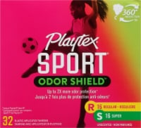 Playtex Sport Odor Shield Unscented Tampons Multipack