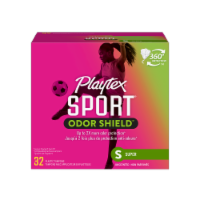 Playtex Sport Odor Shield Unscented Super Tampons