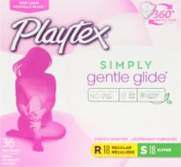 Playtex Simply Gentle Glide 360 Lightly Scented Regular and Super Absorbency Tampons Multi-Pack