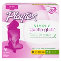 Playtex Simply Gentle Glide Regular and Super Tampons