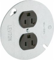 Leviton 15 amps 125 volt Brown Outlet 5-15R 1 pk - Case Of: 1; Each Pack Qty: 1; - Count of: 1