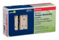 Leviton® Decora® Light Almond Tamper Resistant Outlet - 10 pk