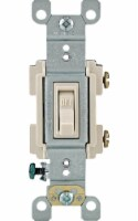 Leviton Framed 15 amps Toggle Switch Light Almond 1 pk - Case Of: 1; Each Pack Qty: 1; - Count of: 1