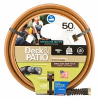 Swan Deck and Patio 5/8 in. Dia. x 50 ft. L Premium Grade Brown Hose - Case Of: 1; - Count of: 1