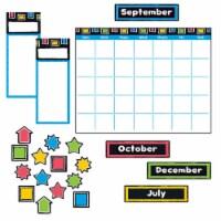 "Bold Strokes Wipe-Off Calendar Bulletin Board Set, Assorted, 18"" x 26.5"" T8392"