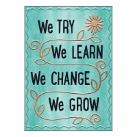 We TRY We LEARN We Change ARGUS® Poster, 13.375  x 19 - 1