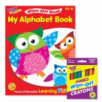 My Alphabet Book and Crayons Reusable Wipe-Off® Activity Set - 1