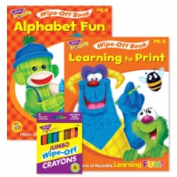 Alphabet Fun & Learning to Print Books and Crayons Reusable Wipe-Off® Activity Set - 1
