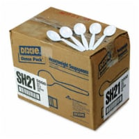 Dixie SH217 Plastic Tableware  Heavyweight Soup Spoons  1000/Carton  White