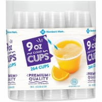 Member's Mark Clear Plastic Cups (9 Ounce, 264 Count) - 1 unit