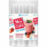 Member's Mark Clear Plastic Cups (16 Ounce,132 Count) - 1 unit